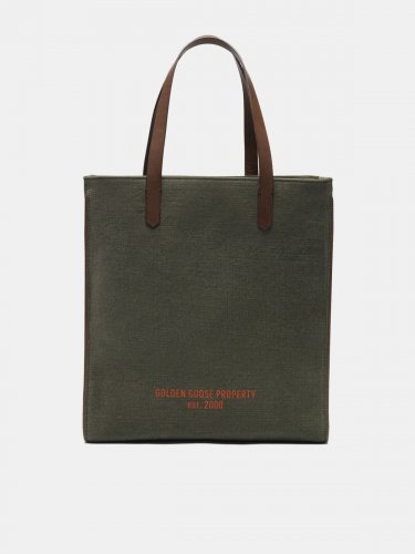 Military green California North-South bag
