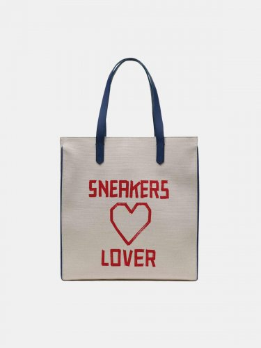 California North-South bag with red Sneakers Lover print