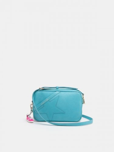 Turquoise Star Bag made of hammered leather