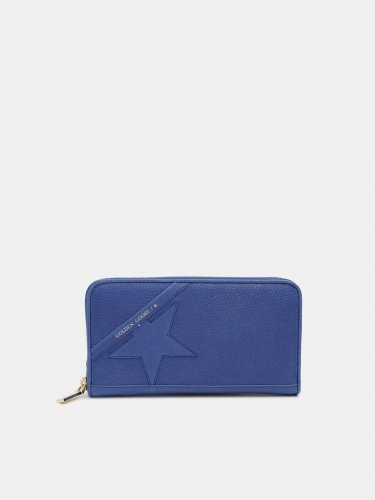Large blue Star Wallet