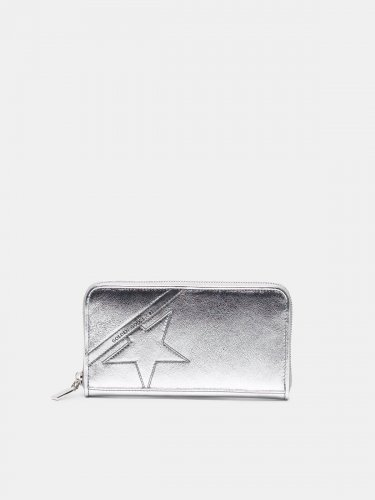 Large silver Star Wallet