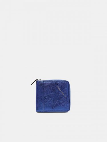 Medium metallic blue Star Wallet