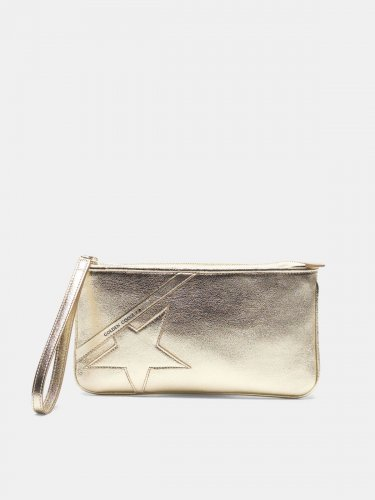 Silver Star Wrist clutch bag