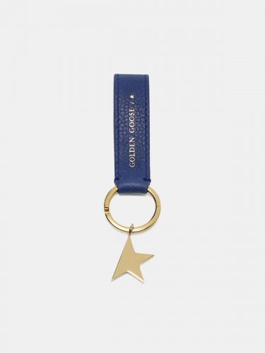 Blue Star Keyring with silver pendant