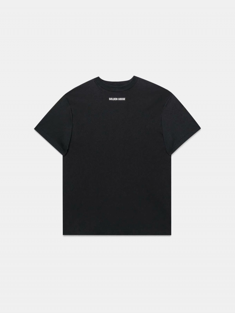 Black Golden T-shirt with print on the back