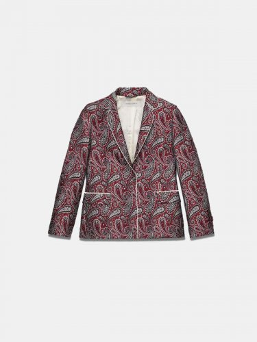 Venice jacket in jacquard fabric with paisley motif