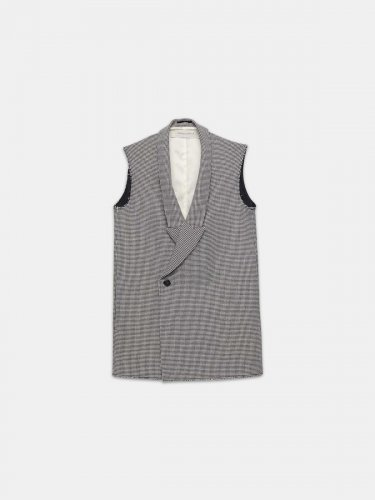 Double-breasted Jennifer waistcoat with raw edges
