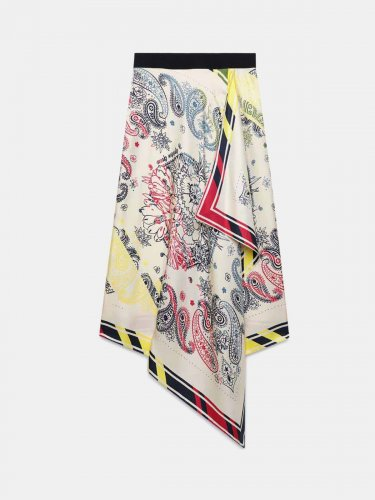 Kaylee skirt in scarf print pure silk