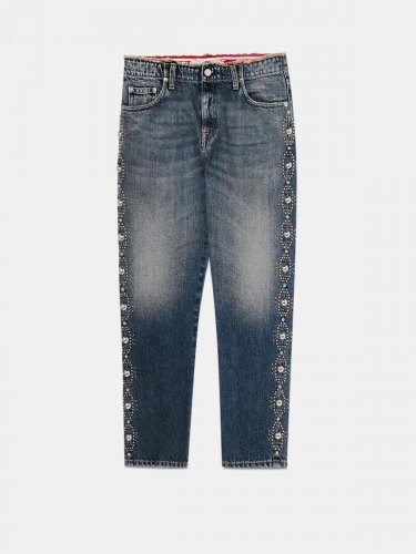 Amy boyfriend-fit jeans with studs