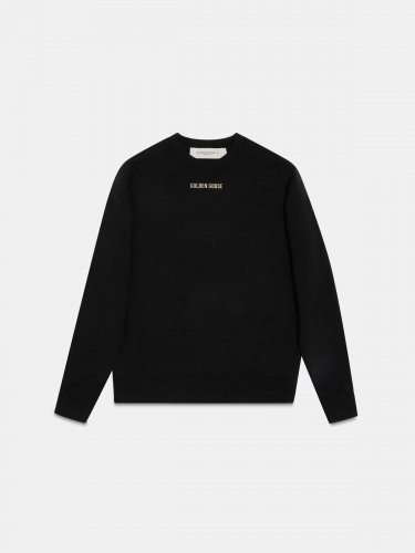 Sharon sweatshirt in black with glittery print