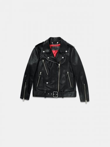 Dakota black nappa biker jacket