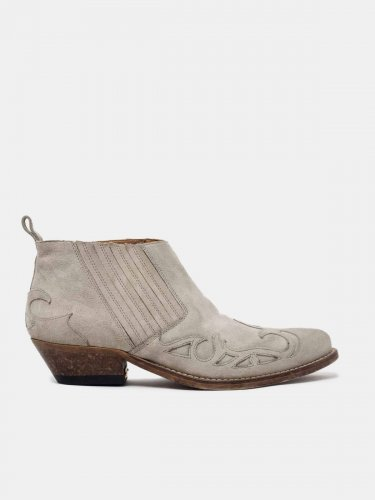 Santiago Low ankle boots in suede leather