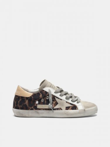 Leopard-print Super-Star sneakers with suede star