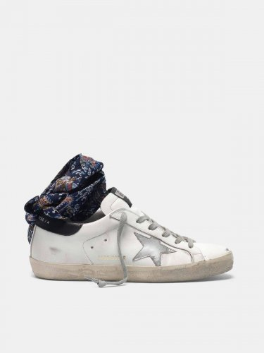 Super-Star sneakers with bandana insert on the ankle