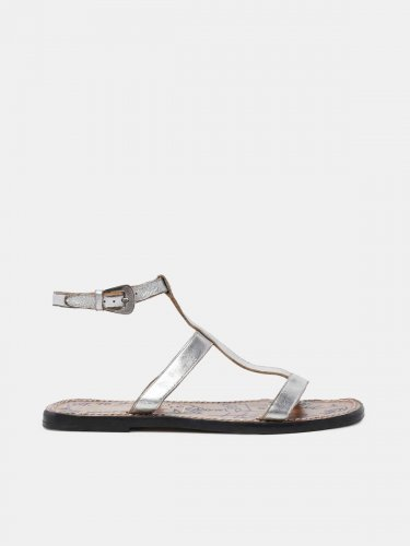 Dakota sandals in silver leather