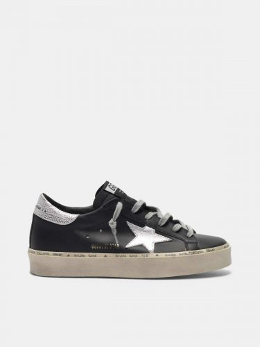 Black Hi Star sneakers with metallic star