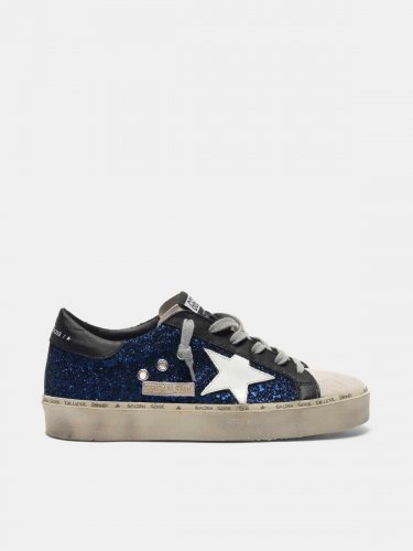 Hi Star sneakers in suede with blue glitter