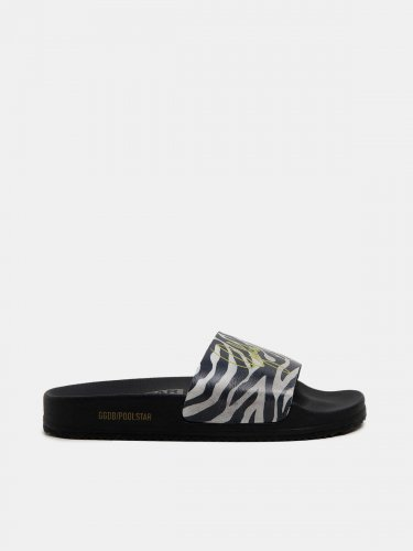 Women??s Poolstars with zebra-pattern strap