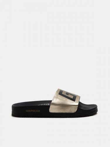 Women??s Poolstars with gold strap