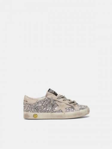 Super-Star sneakers with silver glitter