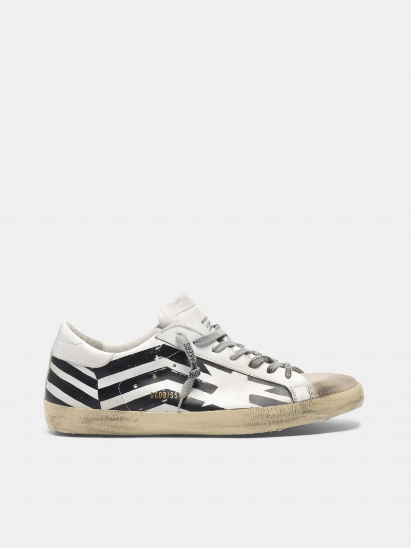Super-Star sneakers with GGDB flag print