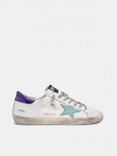White Super-Star sneakers with blue star