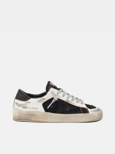 White Limited Edition LAB Stardan sneakers with silver laces