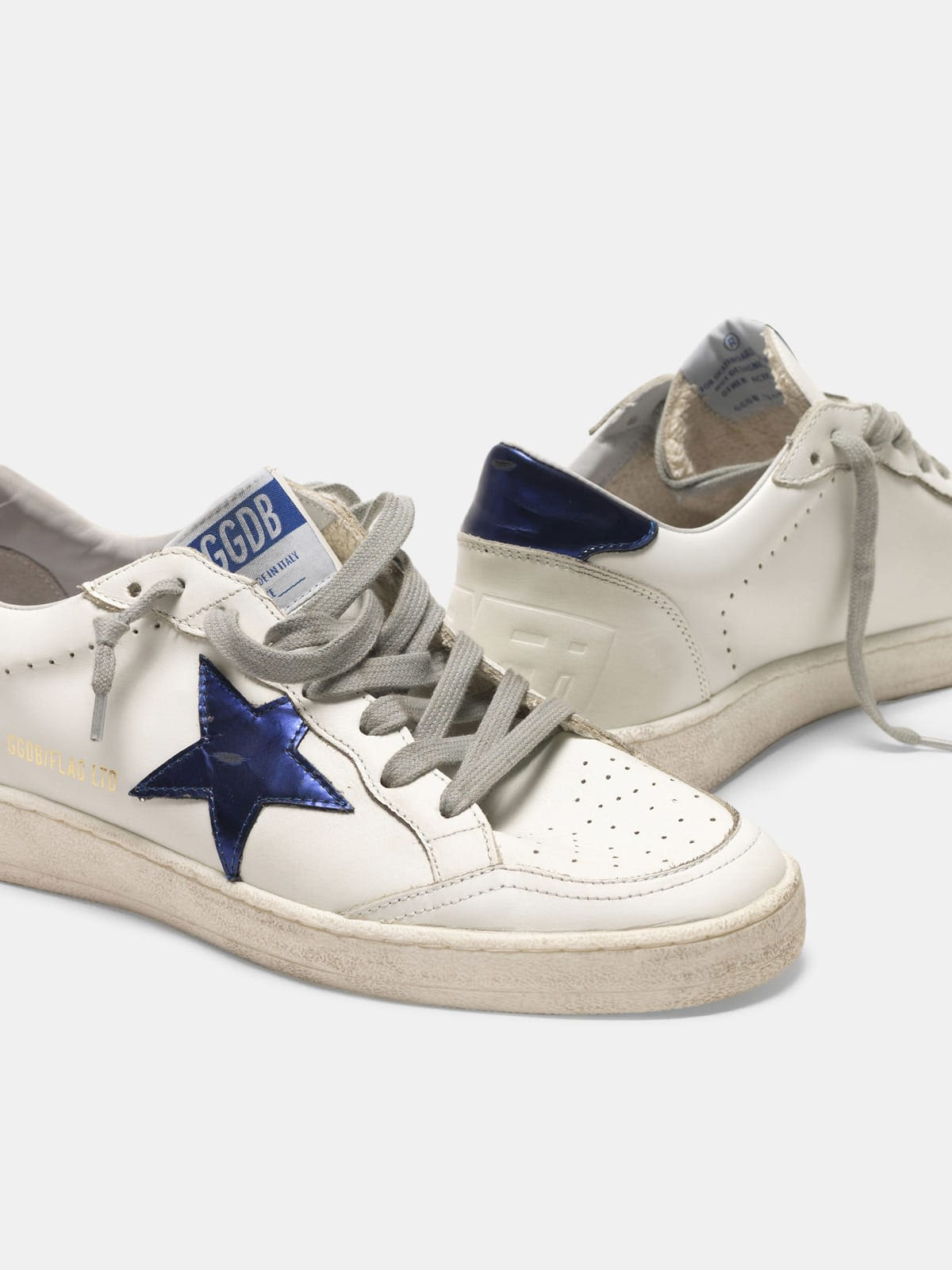Ball Star sneakers with laminated leather heel tab and star