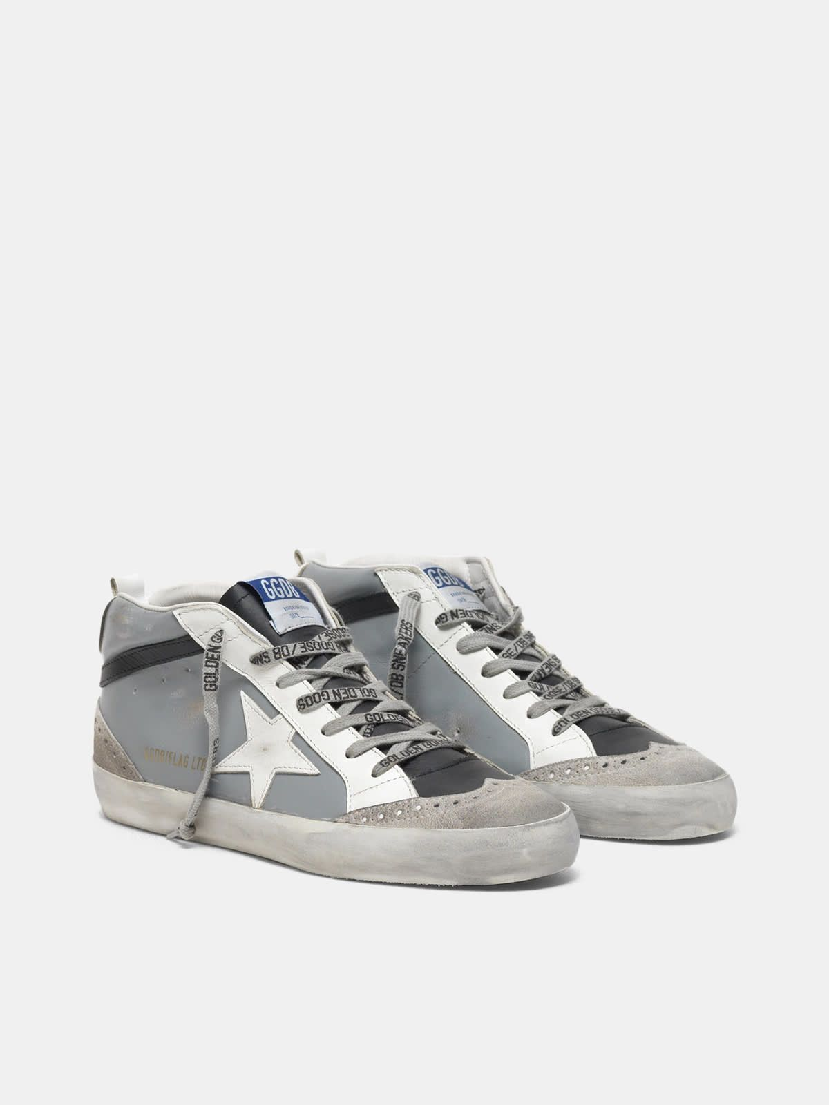 Mid Star sneakers with star in leather