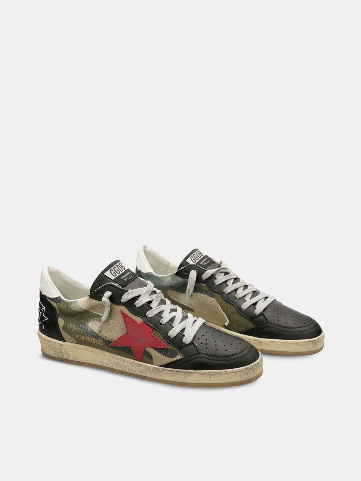 Ball Star sneakers with camouflage print