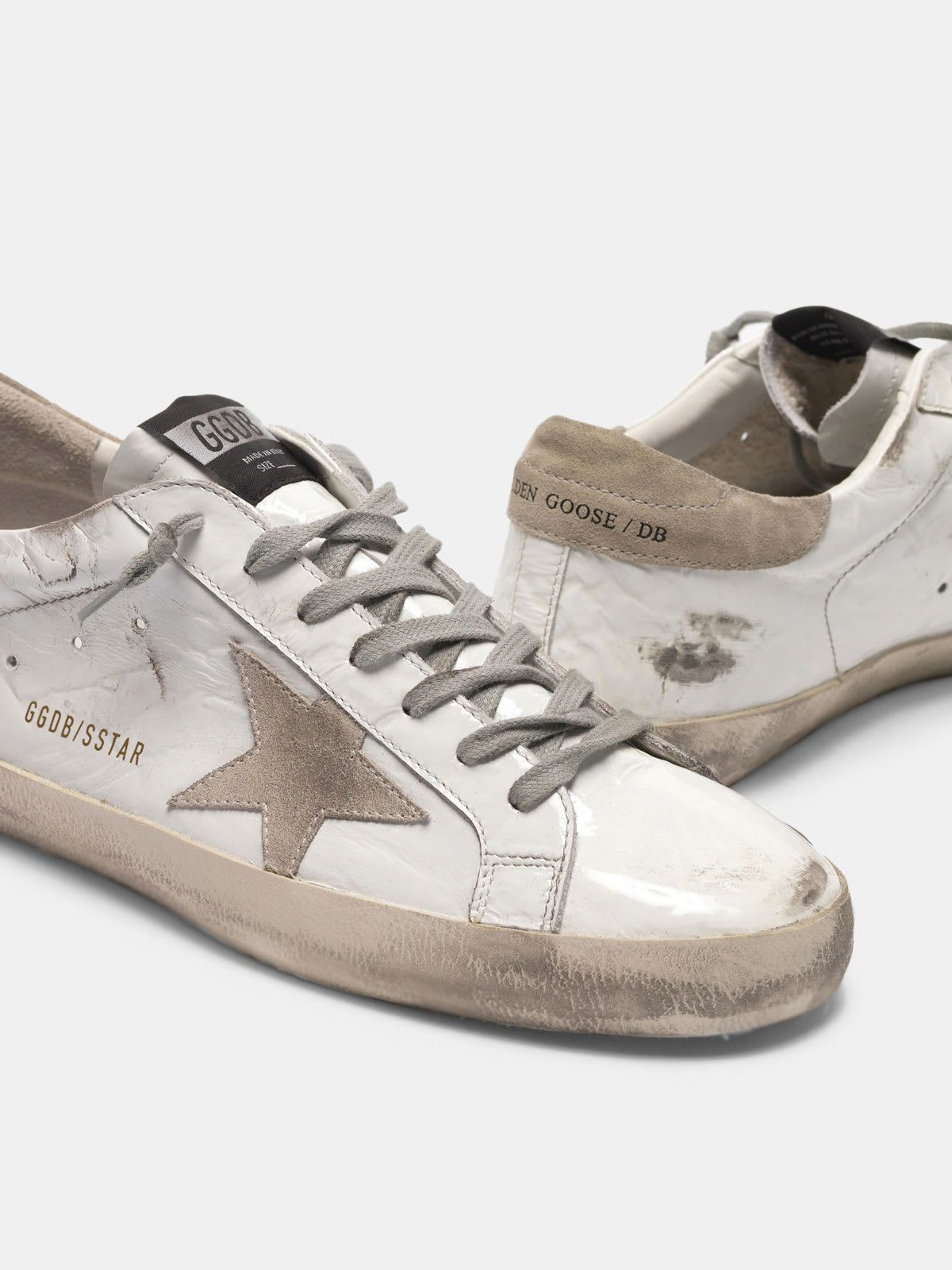 Super-Star sneakers in varnished-look leather