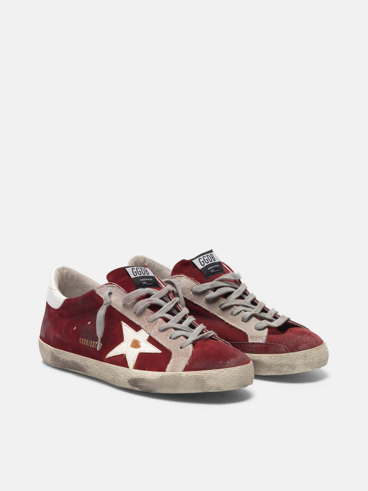 Super-Star sneakers in suede leather with crackle star