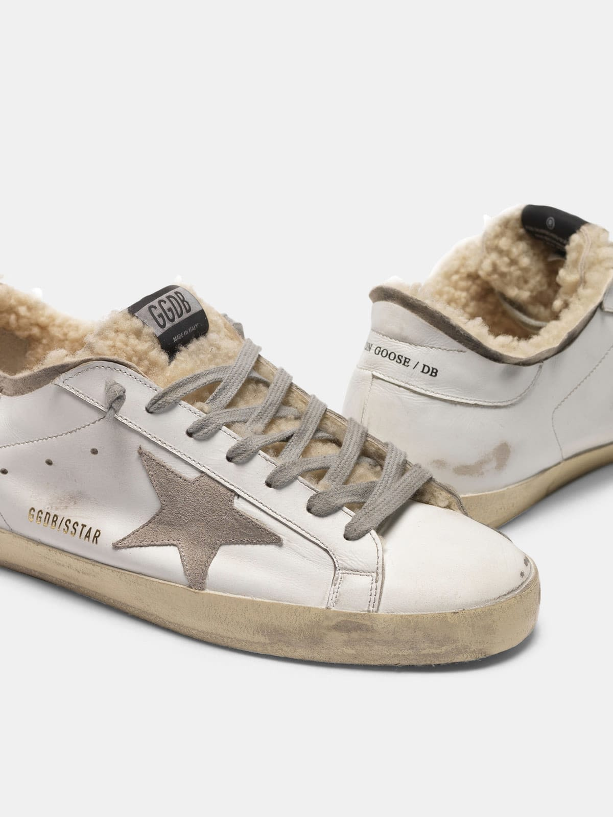 Super-Star sneakers with double structure in shearling