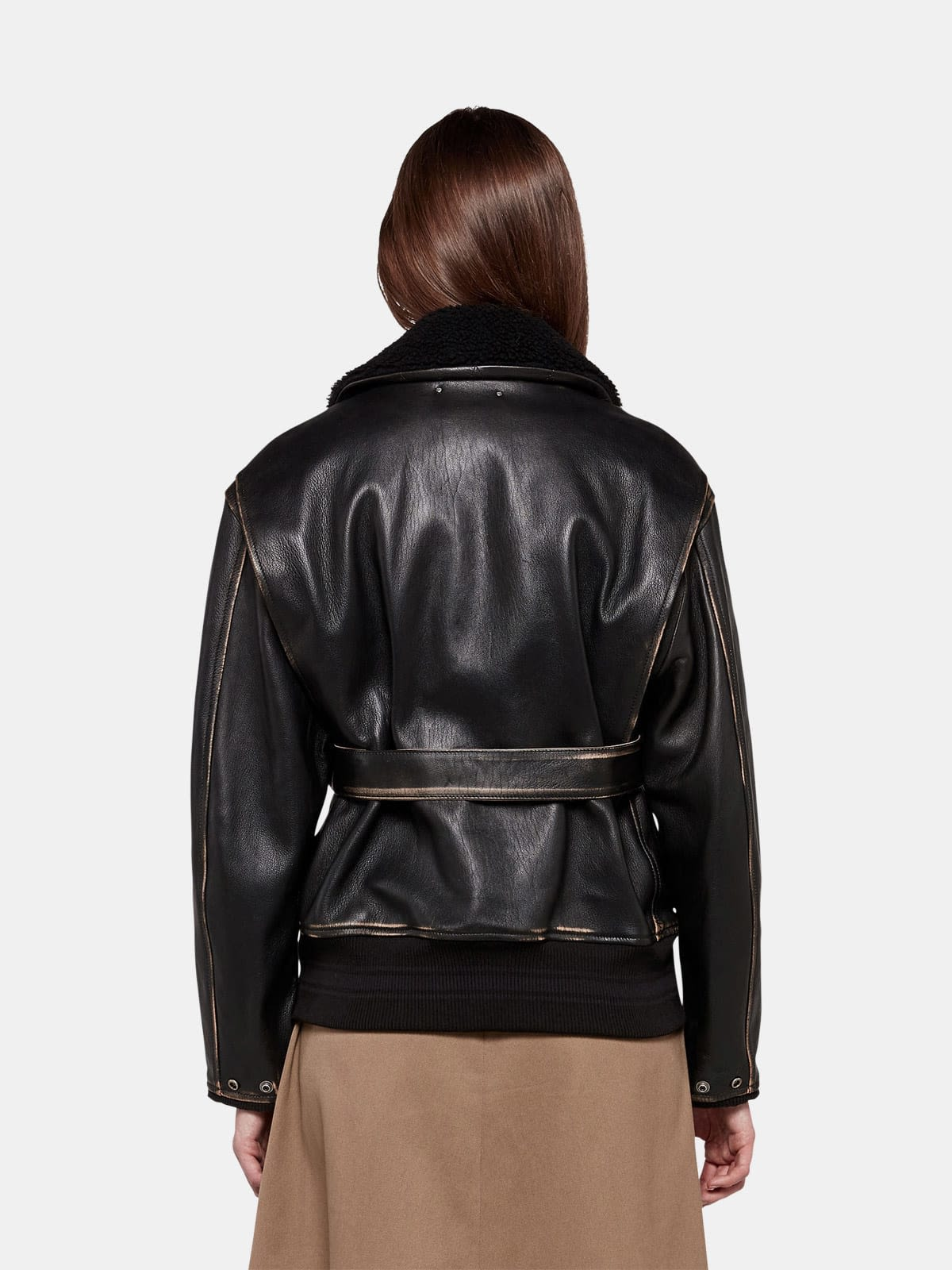Erika bomber jacket in vintage-look nappa leather