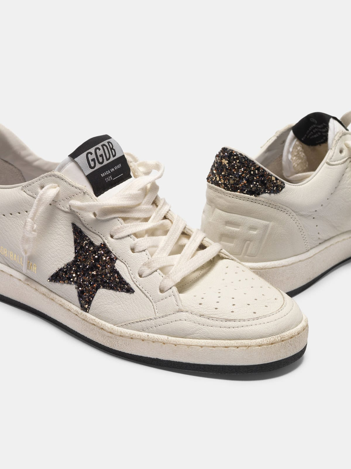 Ball Star sneakers with GGDB star and glittery heel tab