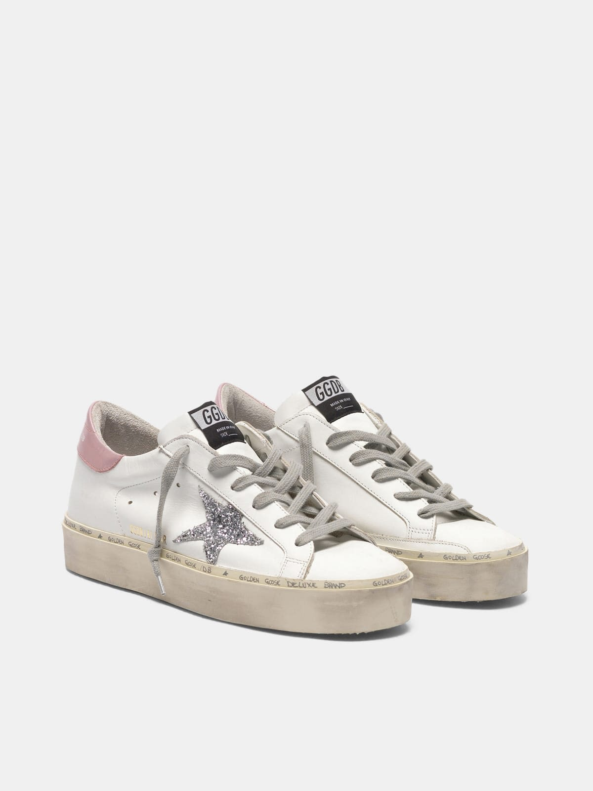 Hi Star sneakers with glittery star and laminated heel tab