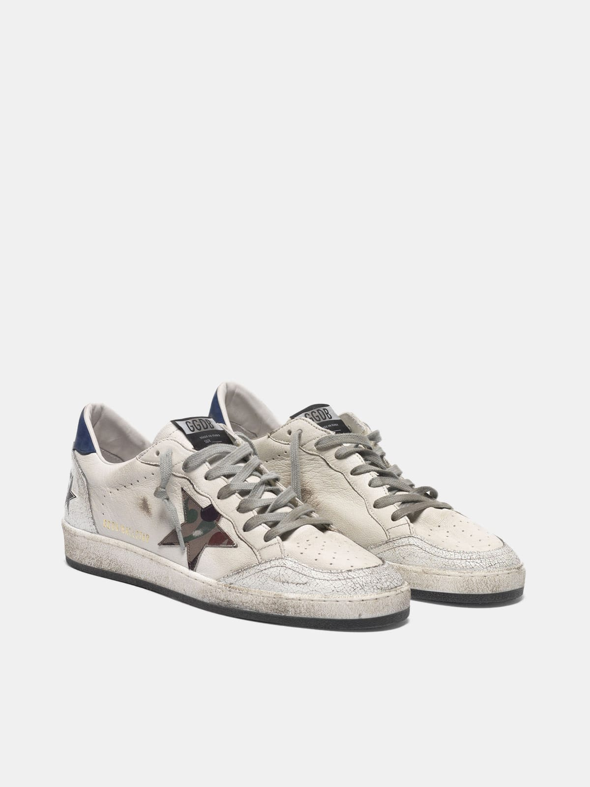 Ball Star sneakers with camouflage star and navy heel tab