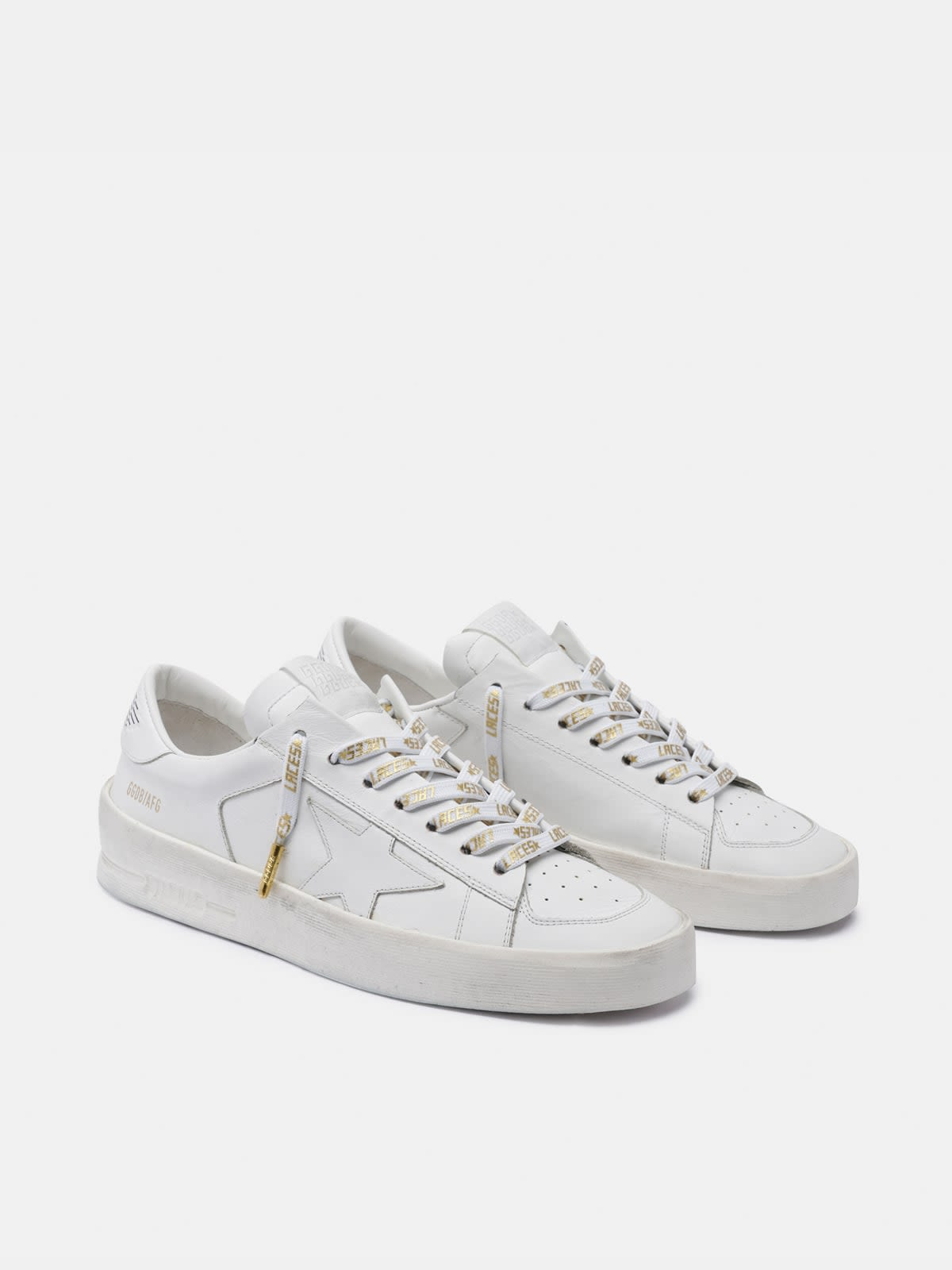 Women's white laces with gold laces print