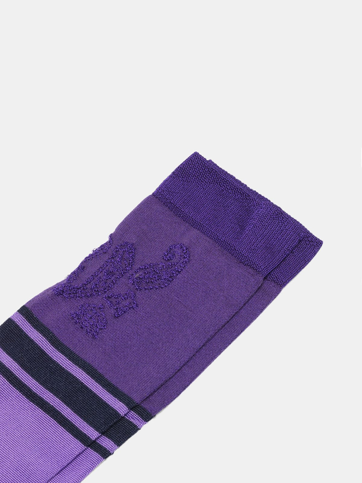 Purple Addison socks with jacquard pattern