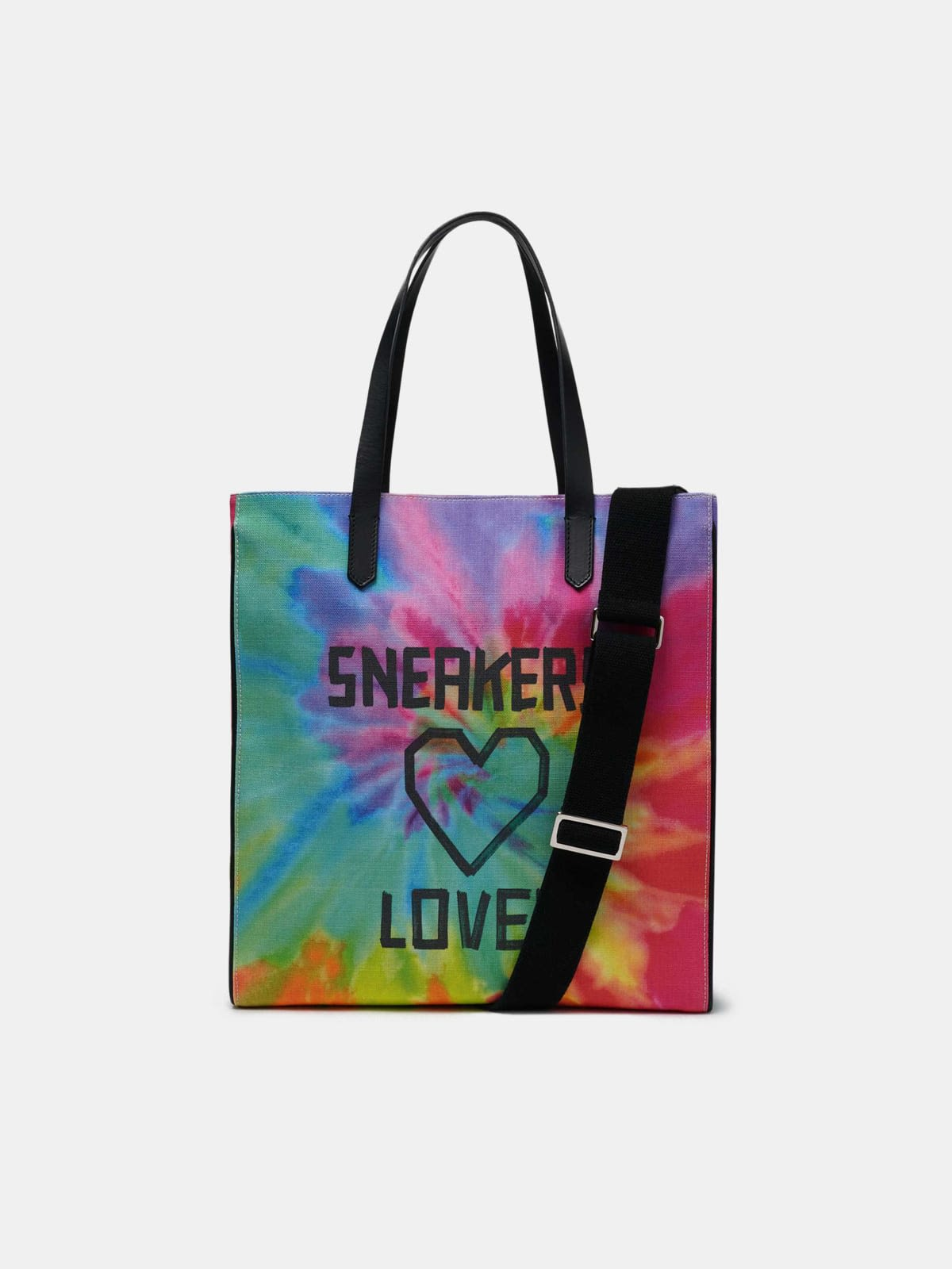 California North-South tie-dye bag with Sneakers Lover print