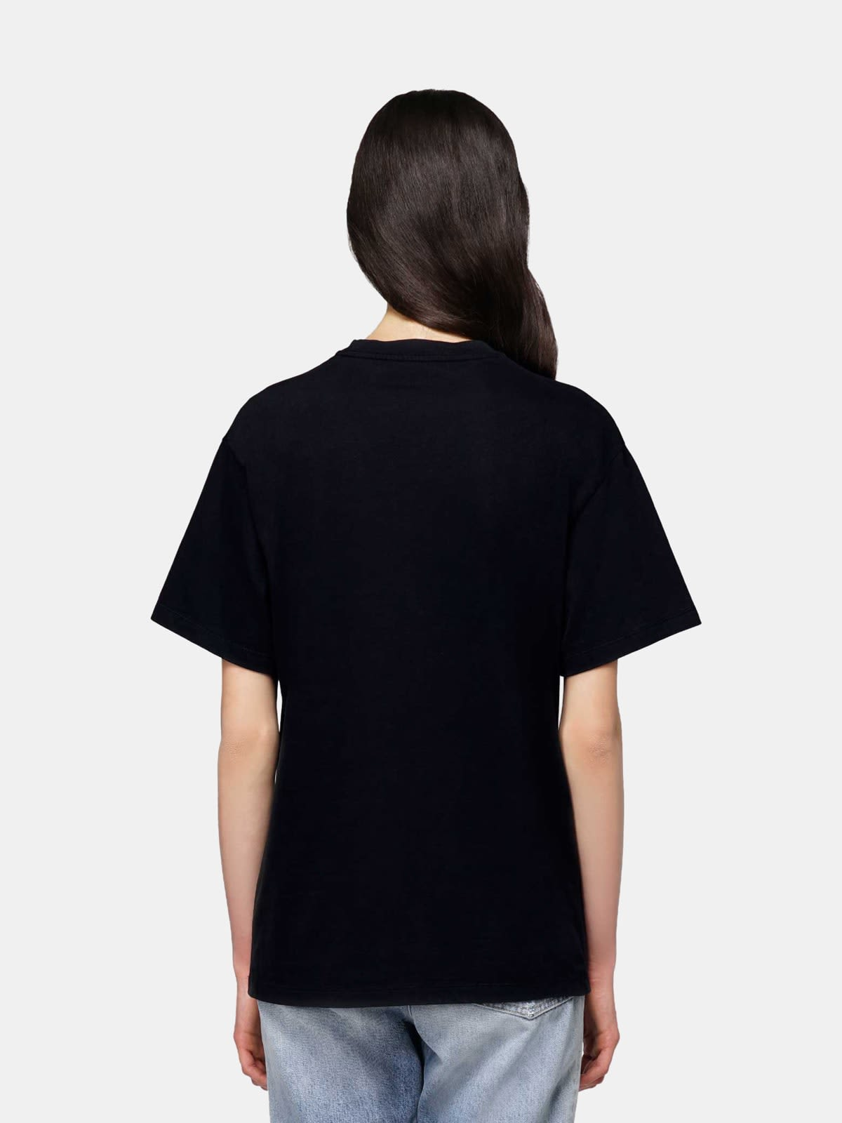 Black Golden T-shirt with flag print