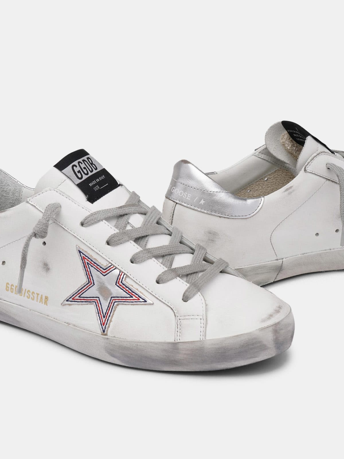 Silver star Super-Star sneakers with contrasting stitching