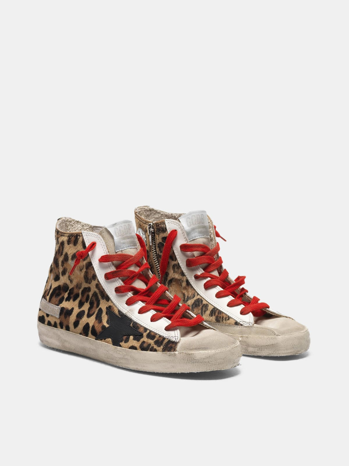 Francy sneakers in leopard-print pony skin