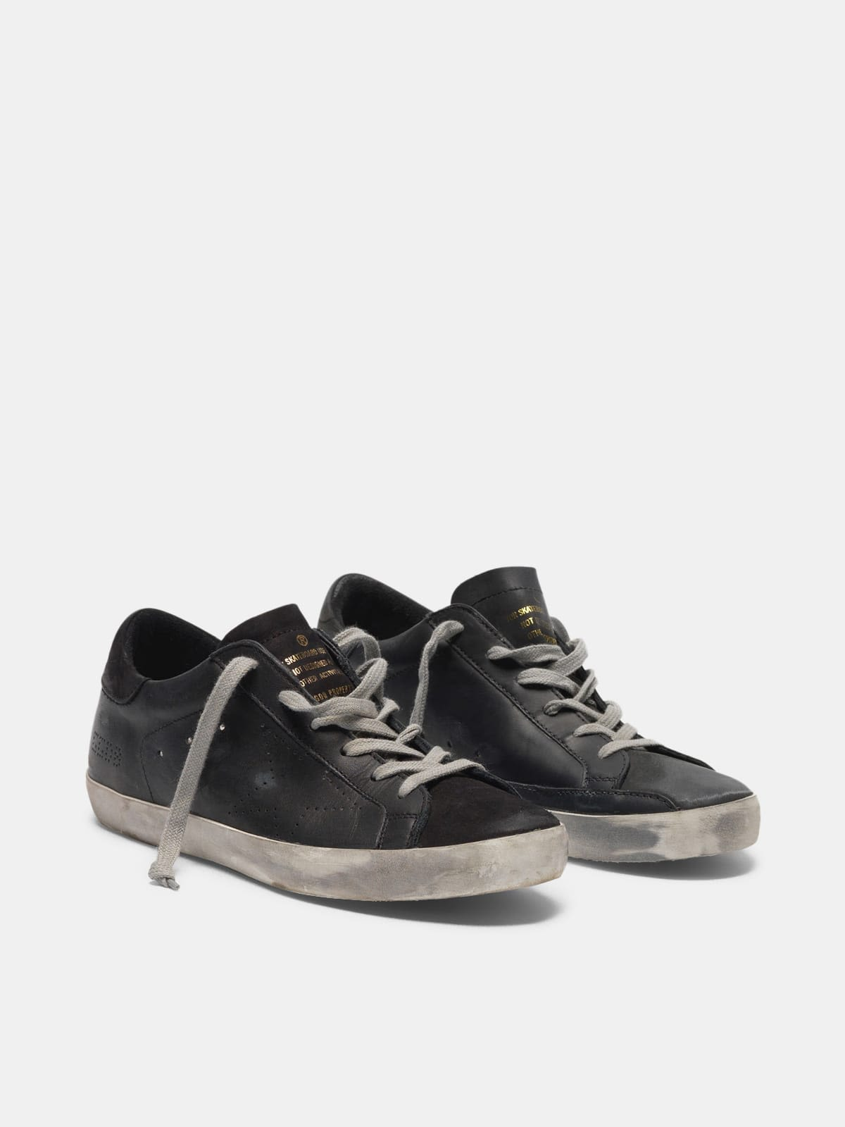 Super-Star sneakers in leather with perforated star