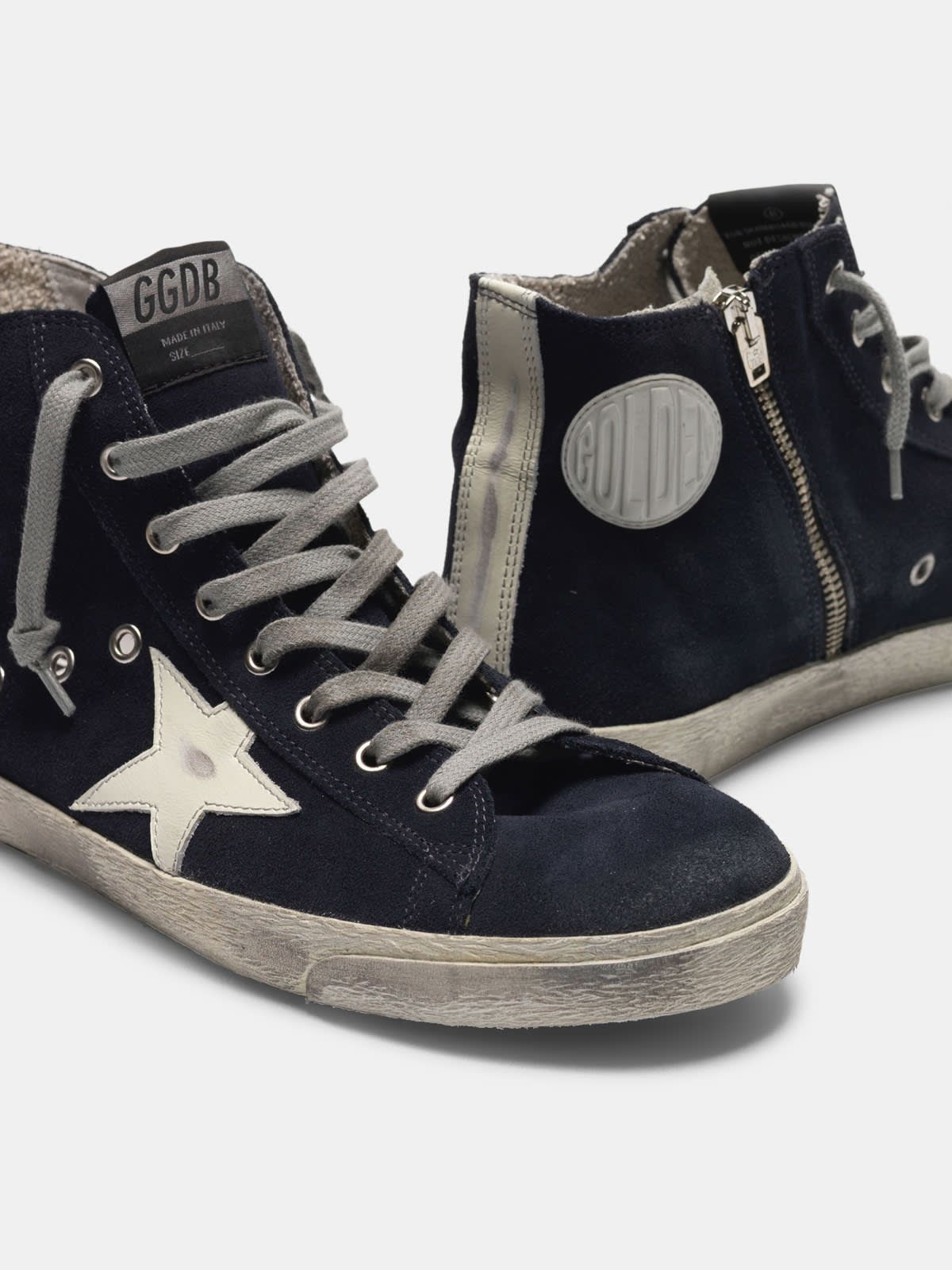 Francy sneakers in leather with leather star and heel tab
