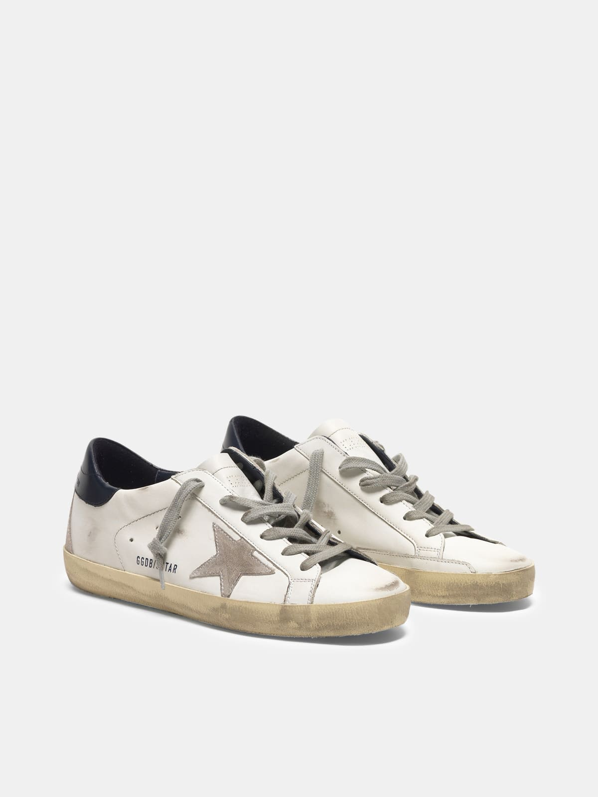 Star Super-Star sneakers in suede with blue heel tab