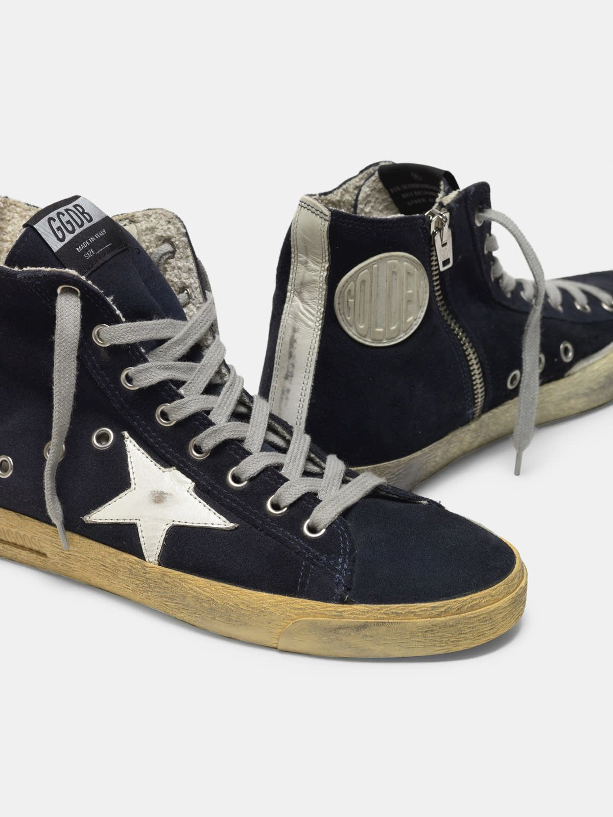 Francy sneakers in suede with leather star