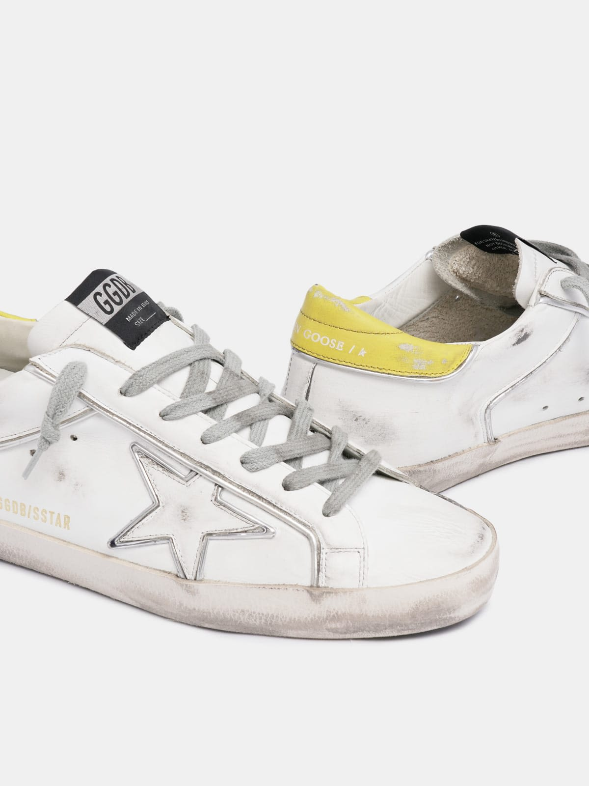 Super-Star sneakers with silver piping