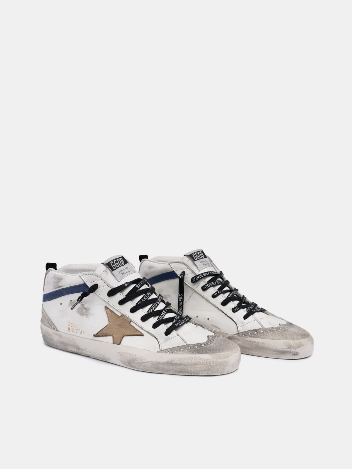 White Mid Star sneakers with beige star