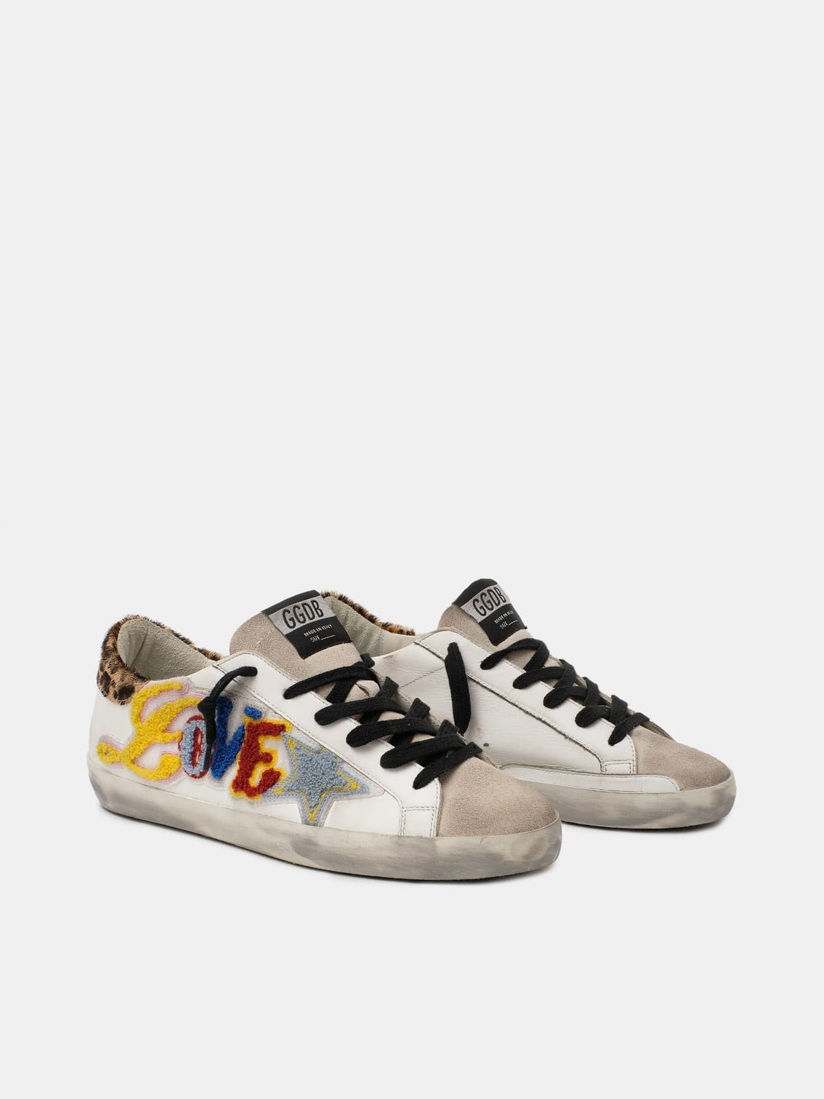 Super-Star sneakers with multicoloured Love lettering
